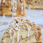 Apple and cinnamon crumble cake piece