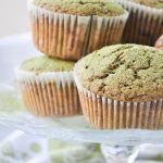 Vegan matcha chocolate chip muffins