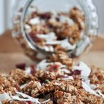granola with coconut and cranberry