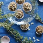 Boozy balls with nuts and wafers