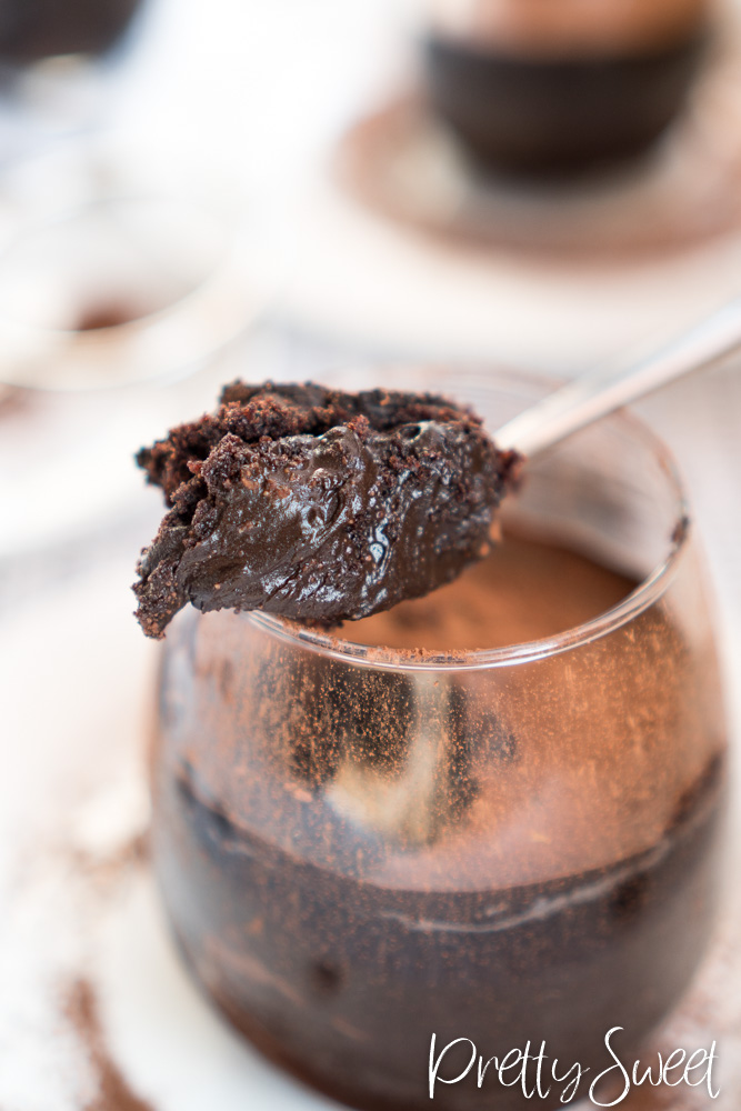 Chocolate dream cake in a glas