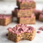 Ruby chocolate blondies