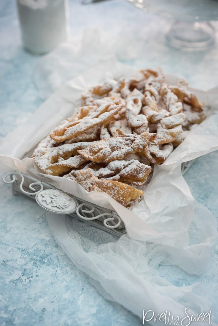 Chiacchiere aka angel wings fried pastry