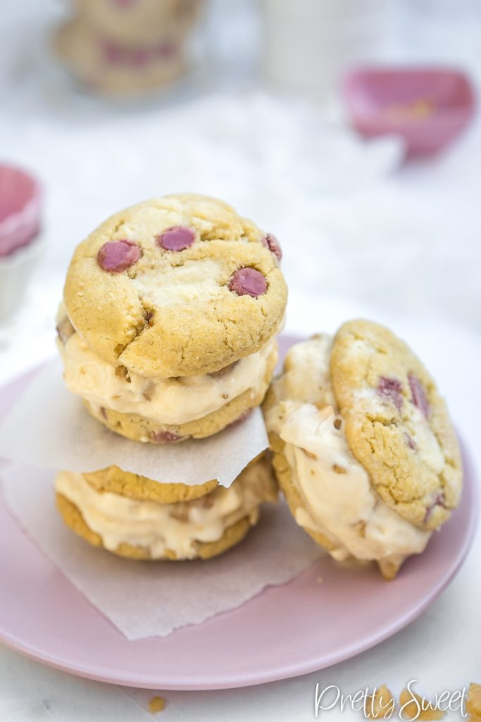 ice cream sandwhiches phtographed from above