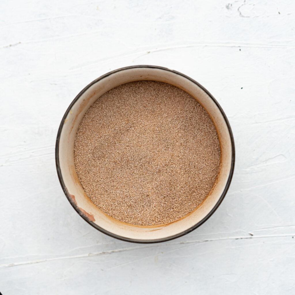 cinnamon c+sugar in a bowl