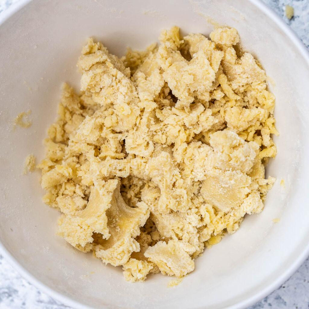 dough in a white bowl